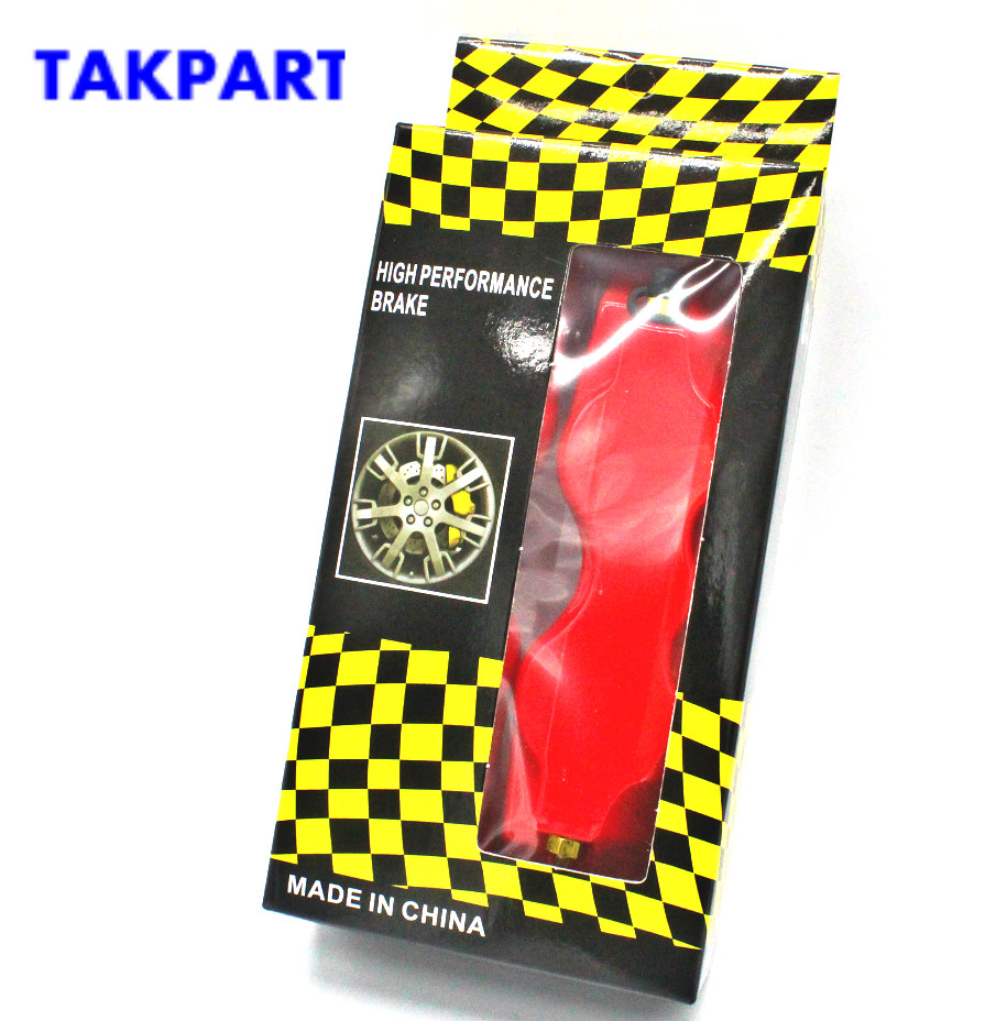 New Yellow Brake Car Auto Caliper Front Rear 3D Disc Cover Universal Kit ABS 4x