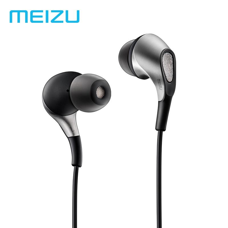Écouteurs d'origine Meizu Flow écouteurs intra-auriculaires 3.5mm écouteurs Triple pilote hybride dynamique avec Microphone pour téléphones Meizu Pro7