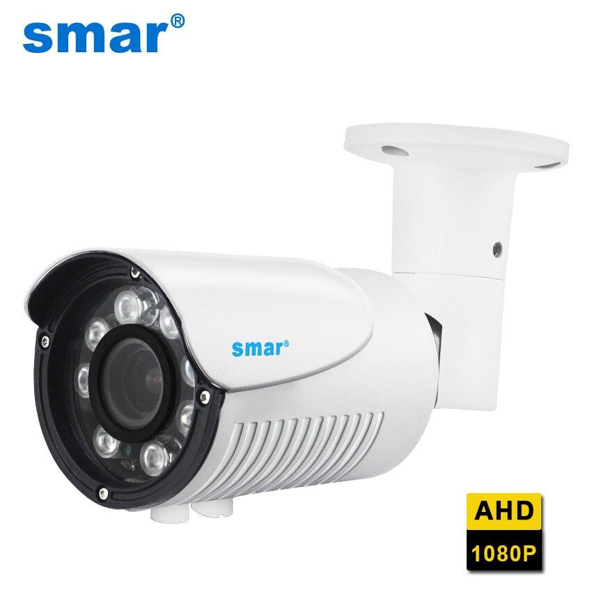 Smar HD 1080P AHD Lente Zoom Manual da Câmera Ao Ar Livre 2.8-12mm 4X AHDH Segurança Vigilância CCTV Camera IP67 Nano Leds à prova d' água