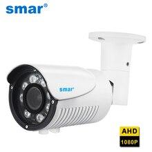 Smar HD 1080P AHD caméra extérieure 2.8 12mm 4X Zoom manuel lentille AHDH Surveillance sécurité CCTV caméra étanche IP67 Nano Leds
