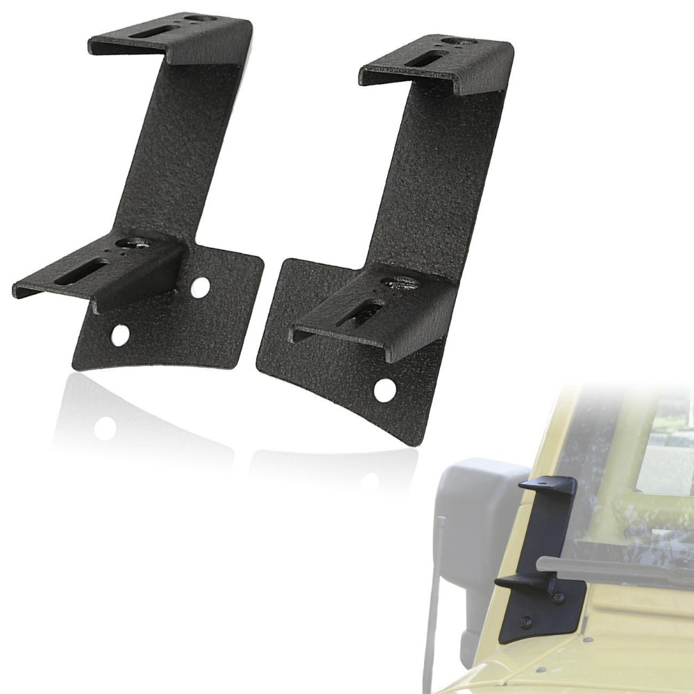 For 2007~2017 Jeep Wrangler JK A-pillar Dual Cube Mount Brackets For Work Light