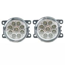 цена на 6000K CCC 12V car-styling For Renault Fluence L30 Koleos SANDERO STEPWAY DRL Fog Lamps lighting LED Lights 9W /1 SET