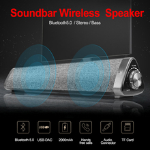 Portable Wireless Loudspeaker Wireless Bluetooth Stereo Bass Speaker Subwoofer for TV PC Support TF Card FM Radio Aux Input k5 stereo 2 0 subwoofer wireless bluetooth speaker support aux usb charger handsfree fm radio alarm clock for iphone android pc