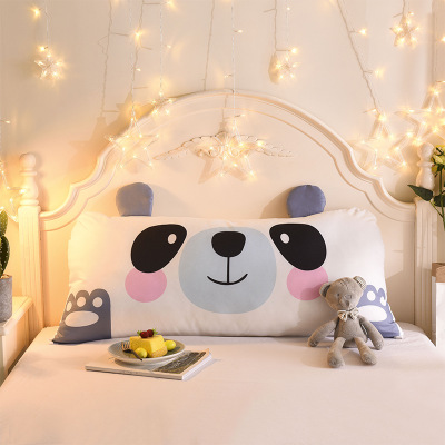 Cartoon Double Pillows Cotton Linen Backrest Cushion For Sofa Cushions For Bed Rest Pillow Back Support Cartoon Double Pillows Cotton Linen Backrest Cushion For Sofa Cushions For Bed Rest Pillow Back Support Large Size