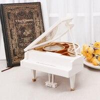 Home Decor Vintage Mini Musical Plays Pinao With Ballet Girl Music Box Kid Toy Treadle Sartorius