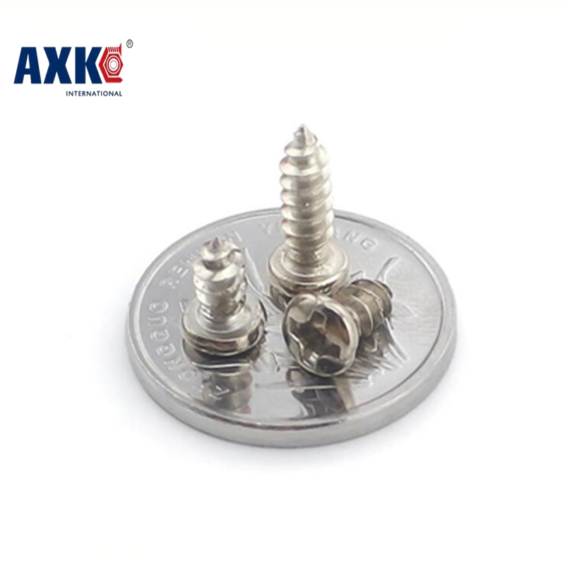 100Pcs M1.4 M1.7 M2 M3 PA Nickel-plated Phillips Head Micro Screws Pan Head Self-tapping Electronic Small Screws M1.4 M1.7 M2 M3 100pcs m1 4 m1 7 m2 m3 pa nickel plated phillips head micro screws pan head self tapping electronic small screws axk 02