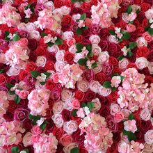 10PCS Custom Top Quality Flower Land Wedding Rose Flower Wall Artificial Floral Rose Wall Wedding Stage photo backdrop