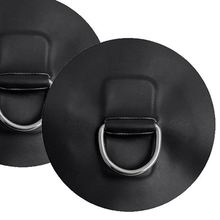 Marine Durable 4 Pieces D-Ring Pad Patch For Inflatable Boat Raft Dinghy Kayak Black Dinghy Surfboard Replacement Accessories