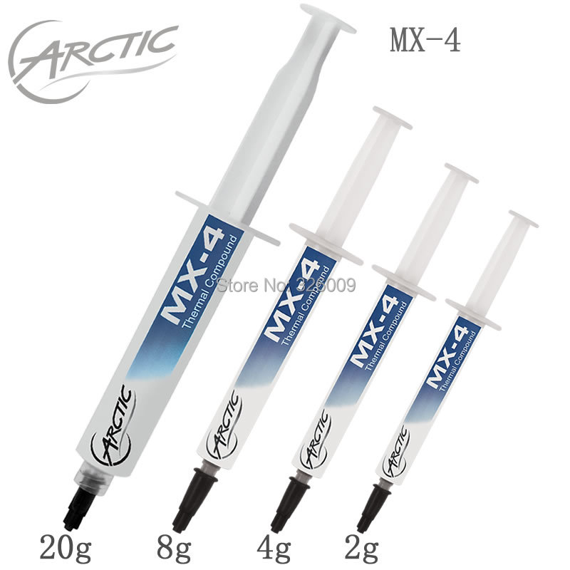 100% Original Ártico MX-4 20g 8g 4g 2g 8,5 W/MK grasa térmica almohadillas disipador pasta de refrigeración para Overclocking