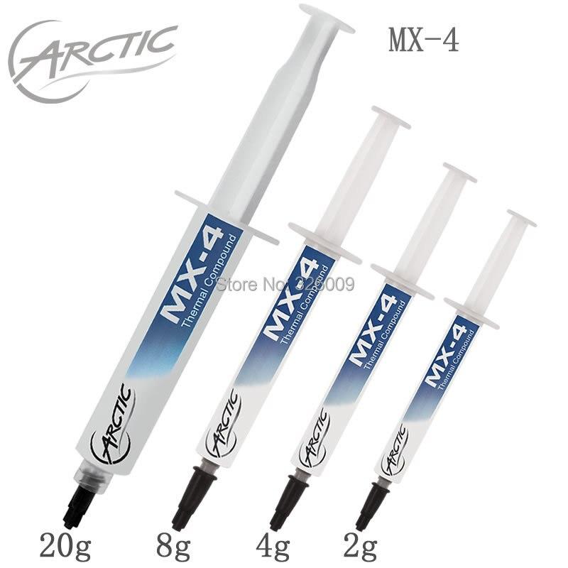 100% genuino original de Arctic MX-4 20G 8g 4G 2G 8.5 W/mk térmica grasa compuesto almohadillas disipador pega refrigeración para overclocking