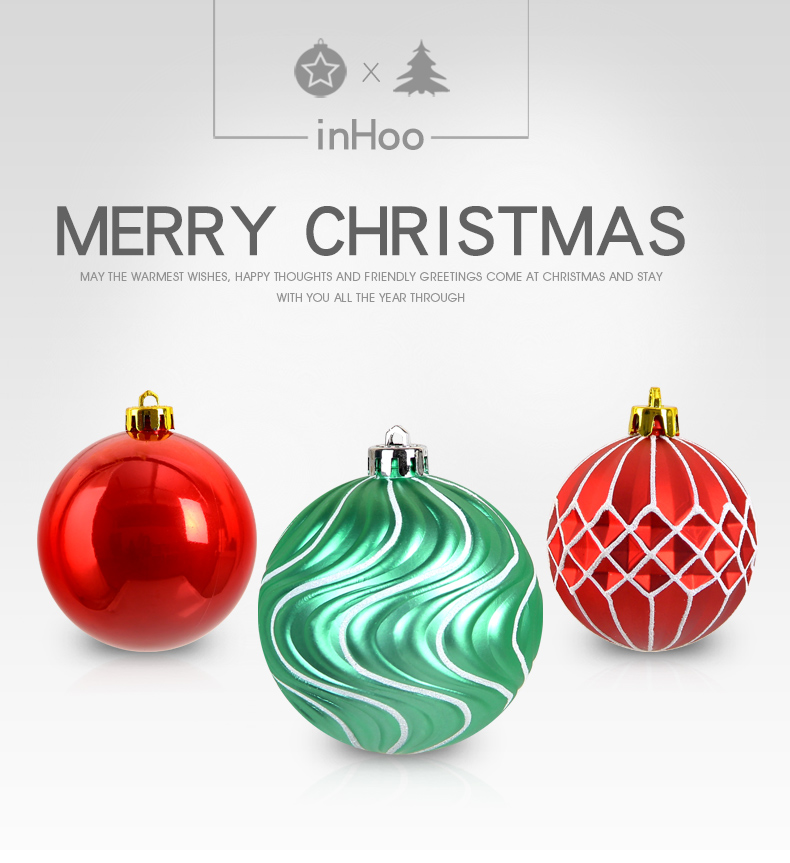 01 inhoo Plastic Christmas Balls For Home Christmas Tree Decorations White Baubles Xmas Ornaments Pendant Balls 2019 New Year Gifts