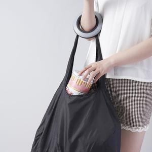 Image 3 - Drehbare falten lebensmittelgeschäft einkaufstasche tragbare große nylon umwelt lagerung tasche kunststoff lagerung box