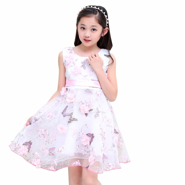 Princesa trajes de vestir para niños ropa sweet flor de mariposa ...