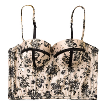 Women Sexy Summer Palm & Floral Print Push Up Bralet Womens Bustier Bra Cropped Tops