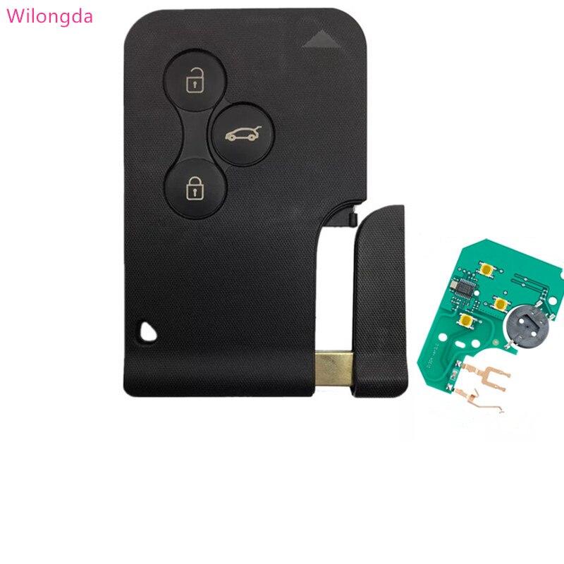 Wilongda voiture accessoires auto smart key carte à puce 434 mhz pcf7947 7947 puce pour Renault Megane 2 carte scénic II grande clé