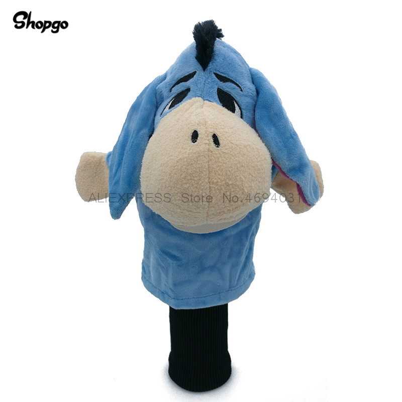 Lovely Donkey Golf Head Cover Fairway Woods Headcover Animal Golf Accessories Mascot Novelty Cute Gift