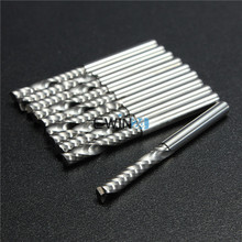 1 Set X High Quality Cnc Bits Single Flute Spiral Router Carbide End Mill Cutter Tools 3.175 X 22mm(China (Mainland))