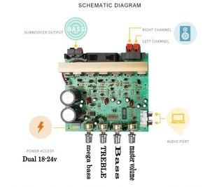 Image 3 - 100W X2 כוח אודיו מגבר לוח 2.1 ערוץ גבוהה כוח 120w סאב בס מגבר לוח RCA עבור רמקול תיאטרון