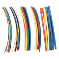 70 unids Ignífugo Durable 7 Colores Surtidos Colores 2:1 Poliolefina Heat Shrink Tube Tubo Kits