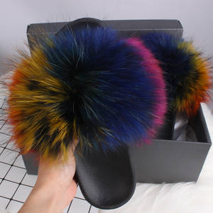 Fur Slippers Shoes F...