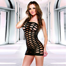 Sexy Lingerie fishnet hollow out dress