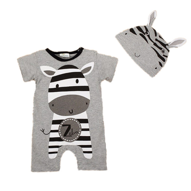 Delicieux New Cute Baby Girl Clothes Infant Toddler 2017 Summer Cartoon Bear Cow  Printed Short Sleeve Romper