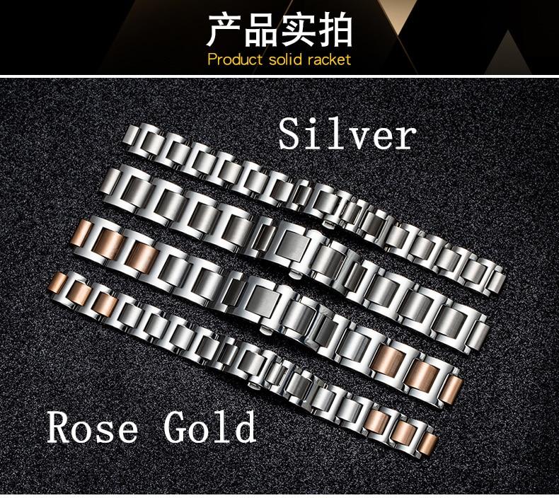 de relógio de aço inoxidável pulseira masculina
