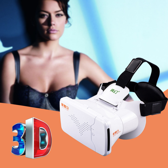Riem 3 wearable 3D VRBOX for 3D movies virtual reality head-mounted 3D glasses for android and IOS