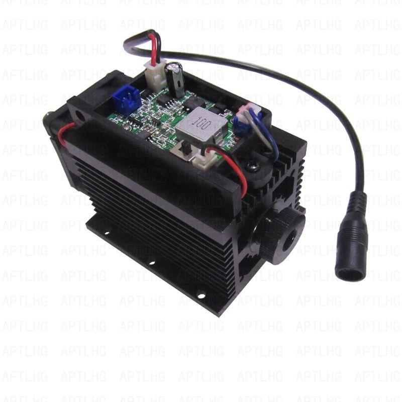 DIY uudsus laserpea 450nm 15000mW 15W sinist laseritoru dioodmoodulit - Puidutöötlemismasinate varuosad - Foto 3