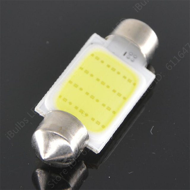 10Pcs Super Bright 31mm 36mm 39mm 41mm C5W DC12V Led Dome Festoon Reading Lighting COB 12 Chips Auto Car Light Lamp Bulb