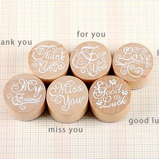 Christmas 6 pieces/lot DIY albums essential blessings bless the word creative round wooden classic story/friendship stamp bless ed are the meek pубашка