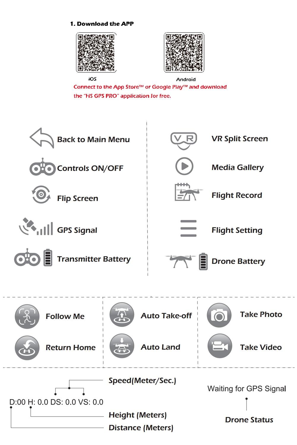 [EU USA JP Stock] Holy Stone HS100 GPS Selfie FPV Drone 500m Flight Range 2500mAh 1080P 7P Camera RC Quadcopter No Tax to EU 23