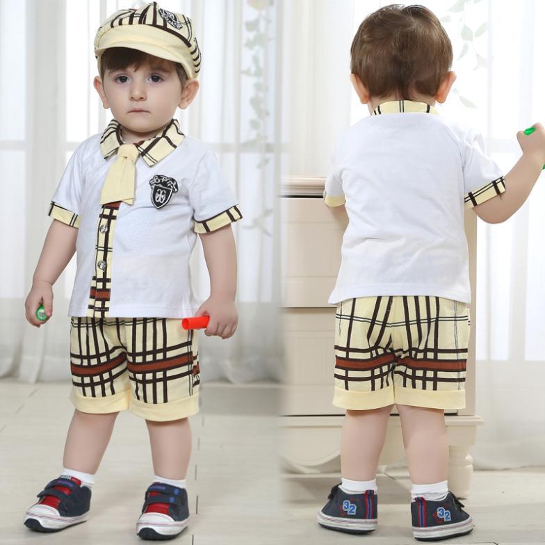 baby boy clothes summer style boys preppy newborn cotton ...