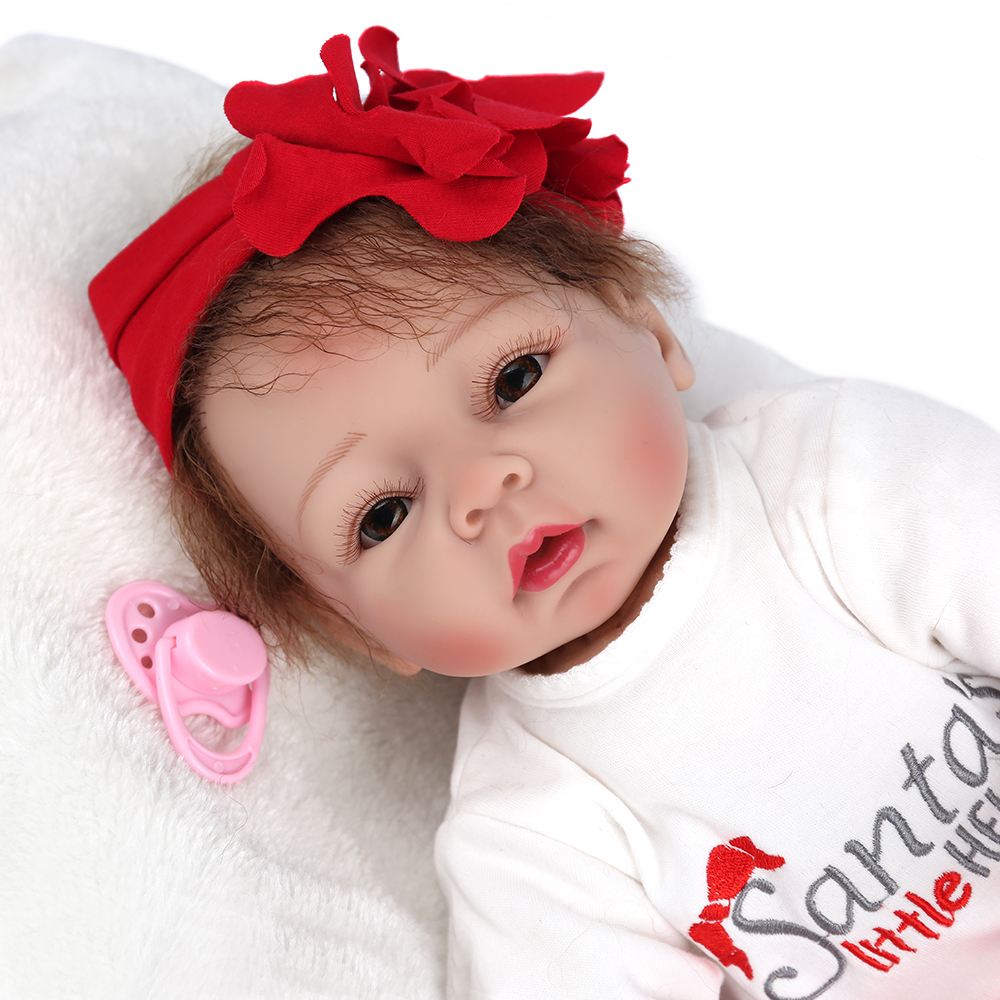 NPKDOLL 22 Inch 50 cm Handmade Doll Reborn Realistic Silicone Baby Doll For Kids Play House Toys boneca reborn Gift for Kids