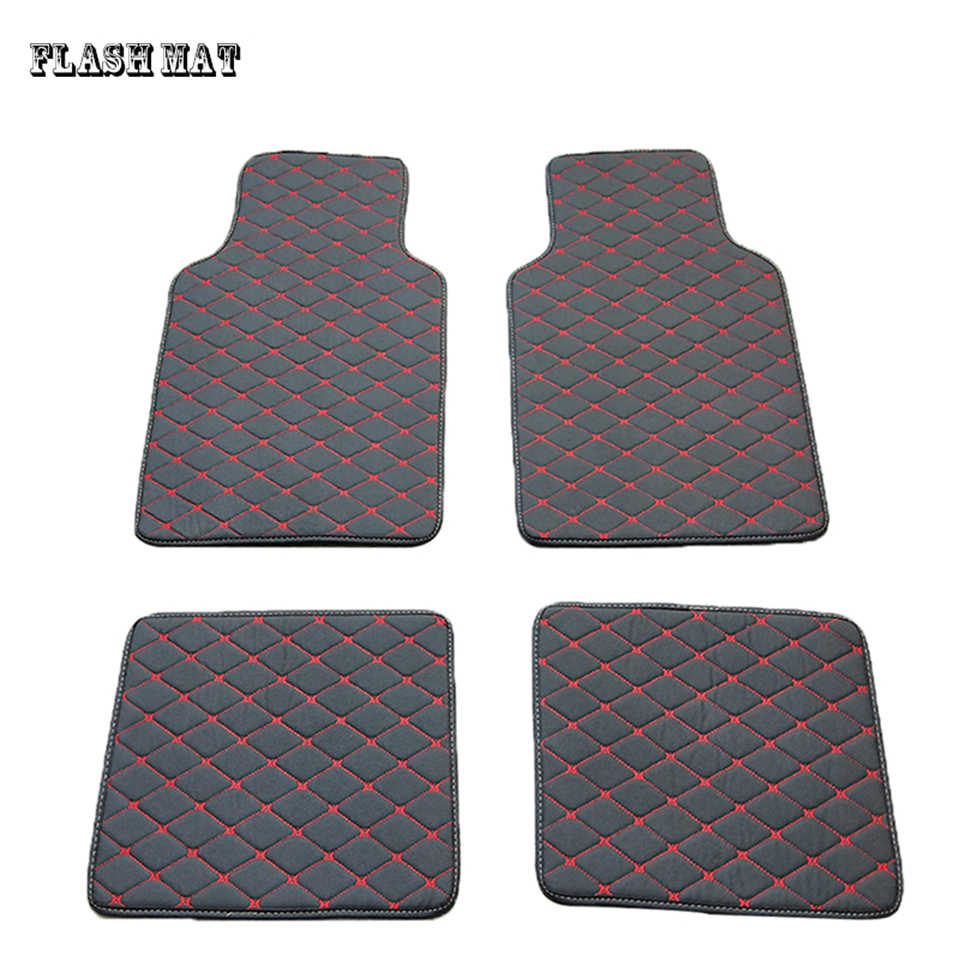 High quality artificial leather universal car floor mat for toyota rav4 corolla camry verso aygo wish land cruiser aqua prius