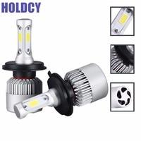 HoldCY H4 9003 Hi Lo Beam COB LED Headlight 72W 8000LM All In One Car LED