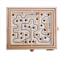 1pcs Board Game Balance Ball Maze 36 Adult Children Wooden Toys