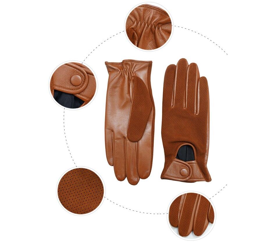 Перчатки из натуральной кожи, мужские тонкие перчатки из овечьей кожи, теплые и зимние мужские кожаные перчатки, мужские кожаные перчатки д... - 5