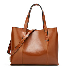 купить Women Leather Handbags Shoulder Bags Ladies Crossbody Bags Large Capacity Ladies Shopping Bag Fashion Brand Handbags Totes дешево