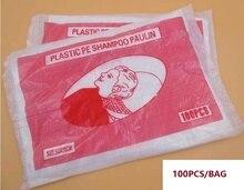 100pcs/pack Hairdressing flushing PE wrap disposable Hair Treatment Shampoo Cape waterproof pads Shampoo Paulin