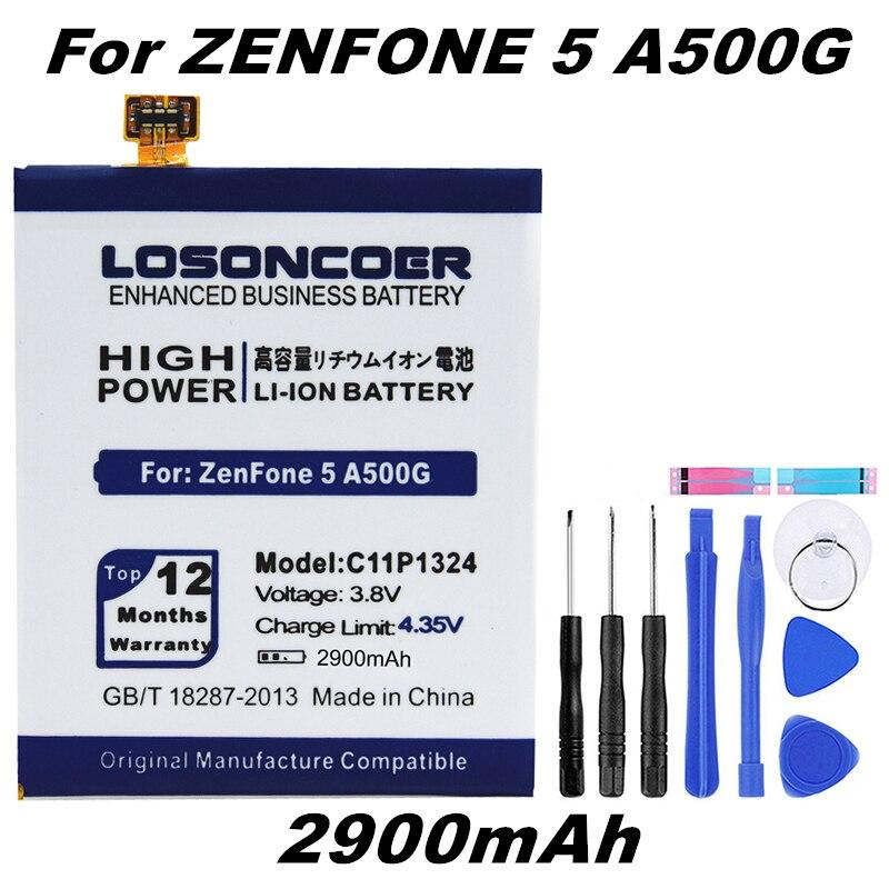 LOSONCOER C11P1324 Battery A500 Asus Zenfone 2900mah A501CG 0B200-00850000 T00F T00J