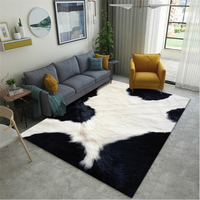 2019 New Cow pattern Design Carpets For Living Room Bedroom Kid Room Climb Soft Rugs Home Printed Carpet Floor Door Mat Area Rug