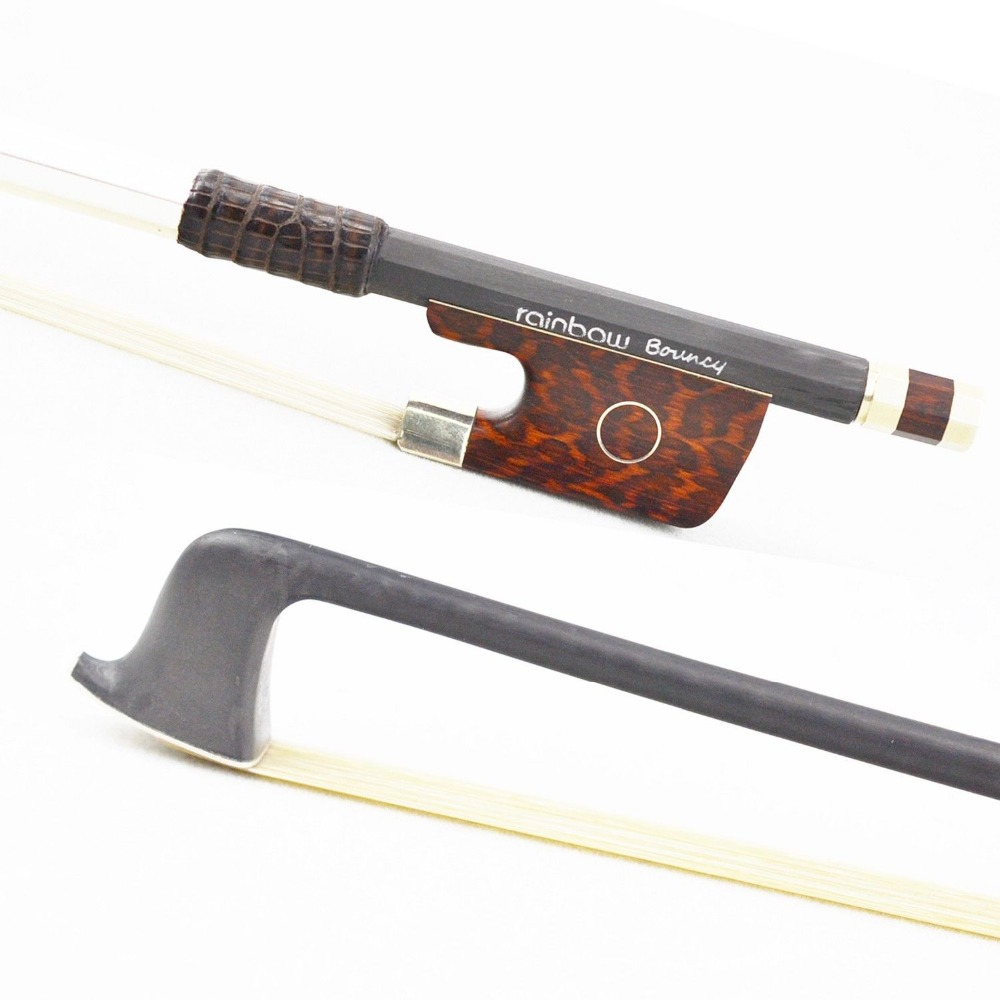 Light 4 4 Size Master RainbowBouncy VIOLIN BOW Woven Carbon Fiber Stick Durable Straight Strong Violin
