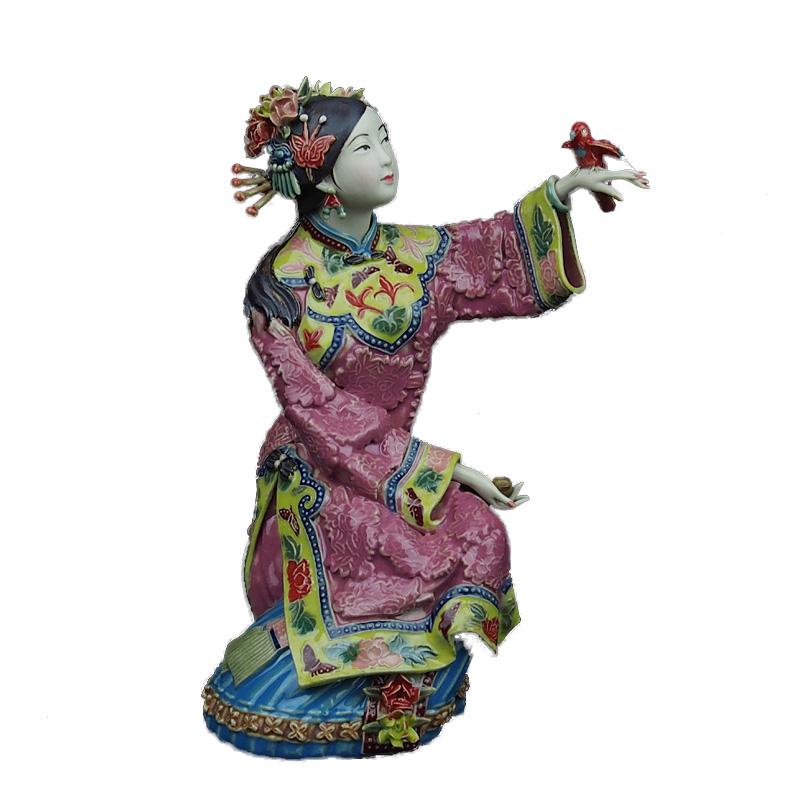 Decoration Chinese Traditional Ceramic Statue Collectible Vintage Porcelain Dolls for Home DecorDecoration Chinese Traditional Ceramic Statue Collectible Vintage Porcelain Dolls for Home Decor