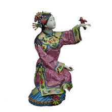 Ceramic Character Classical Sculpture Statue Gifts Home Decor Collections Of CeramicsWorks Art Spring Bird Handicraft