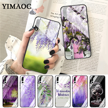 YIMAOC Wisteria Flowers Night Glass Case for Huawei P10 lite P20 Pro P30 P Smart honor 7A 8X 9 10 Y6 Mate 20