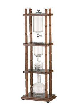 Tiamo water drip coffee maker/cold brew drip coffee maker/holland cold drip coffee maker/cold drip tower 5-8cup wood rack doulbe valve water drip coffee maker ice drip coffee maker ice drip colf brewer dripper coffee maker 600cc wood pillar