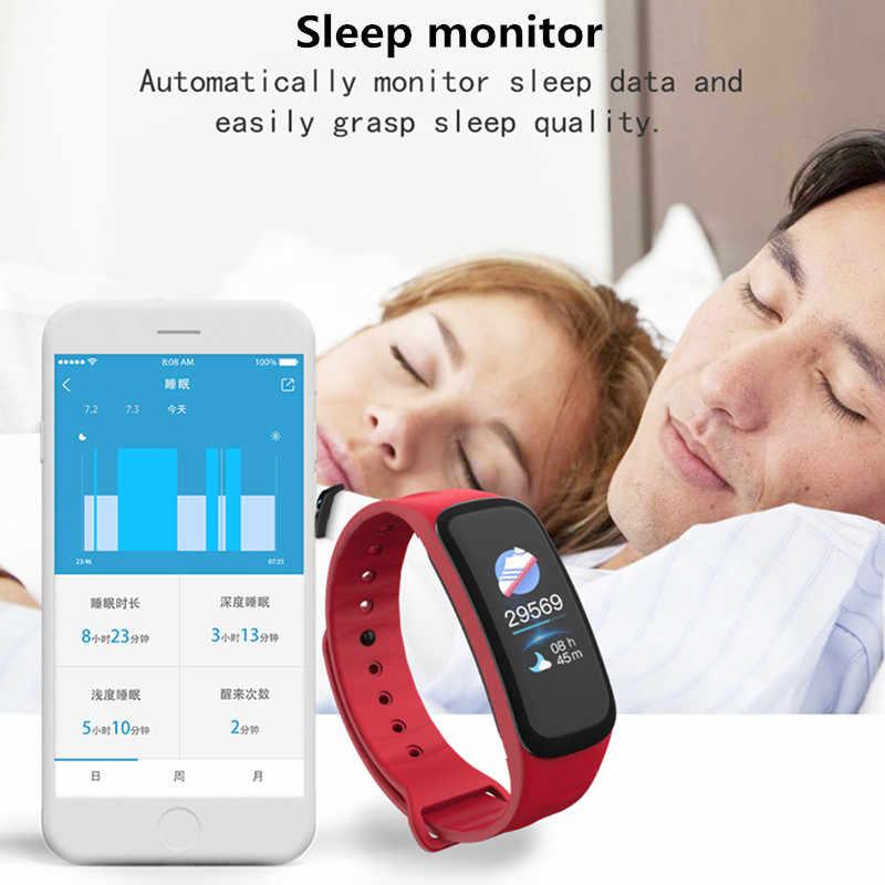 C1S חכם להקת קצב לב לחץ דם חמצן ניטור עמיד למים חכם פדומטר כושר Tracker Smartband PK C1 M3
