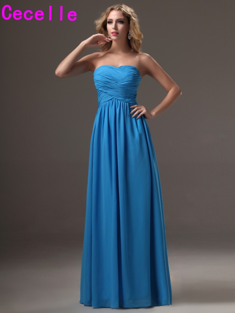 Aliexpress buy 2017 simple blue long bridesmaid dresses aliexpress buy 2017 simple blue long bridesmaid dresses gowns for women sweetheart ruched chiffon open back women wed party gowns bridesmaid from ombrellifo Image collections