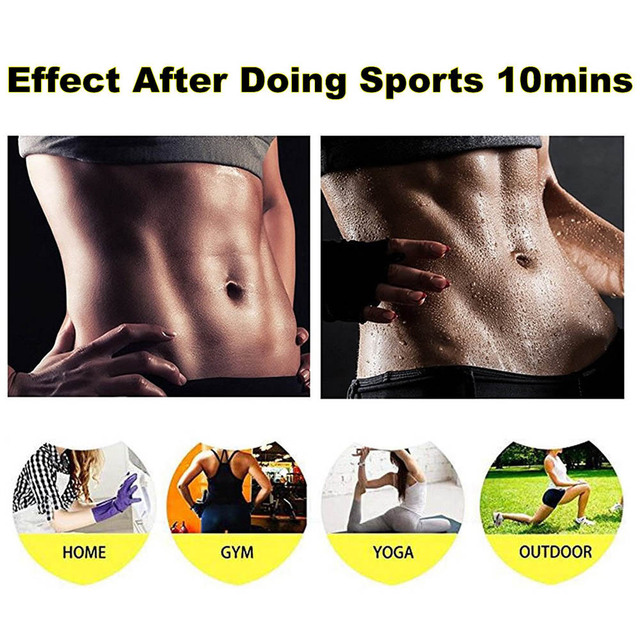 Women Neoprene Body Shaper Set Slim Waist Pants Belt Sweat Sauna Body Shaper Slimming Vest Thermo Neoprene Waist Trainer Top 4